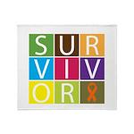 COPD Survivor Color Block Throw Blanket