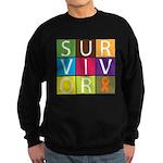 COPD Survivor Color Block Sweatshirt (dark)