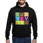 COPD Survivor Color Block Hoodie (dark)