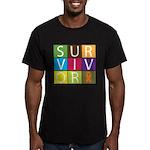 COPD Survivor Color Block Men's Fitted T-Shirt (da