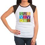 COPD Survivor Color Block Women's Cap Sleeve T-Shi
