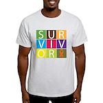 COPD Survivor Color Block Light T-Shirt