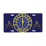 Indiana Free Masons Aluminum License Plate