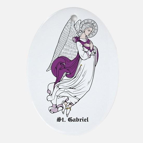 St. Gabriel Oval Ornament