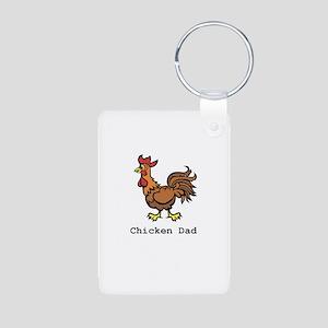 Chicken Dad Aluminum Photo Keychain