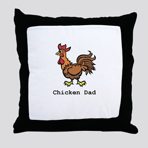 Chicken Dad Throw Pillow
