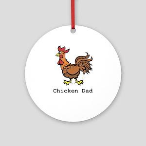 Chicken Dad Ornament (Round)