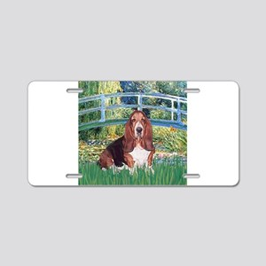 Lily Bridge Basset Aluminum License Plate