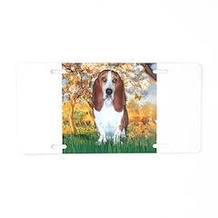 Monet's Spring & Basset Aluminum License Plate