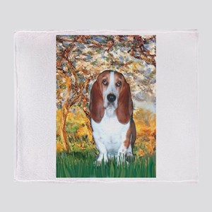 Monet's Spring & Basset Throw Blanket