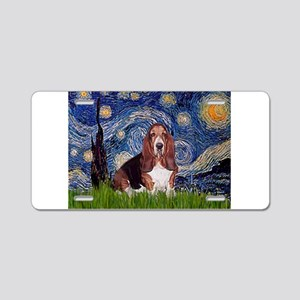 Starry / Basset Hound Aluminum License Plate