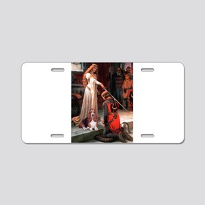 The Accolade & Basset Aluminum License Plate