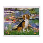 Lilies (#2) - Beagle #7 Throw Blanket