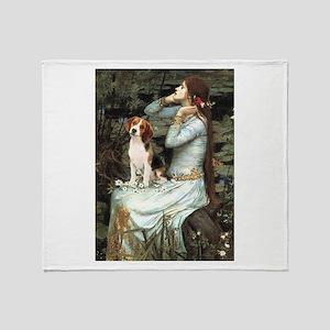 Ophelia & Beagle Throw Blanket