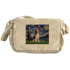 Starry Night / Beagle Messenger Bag