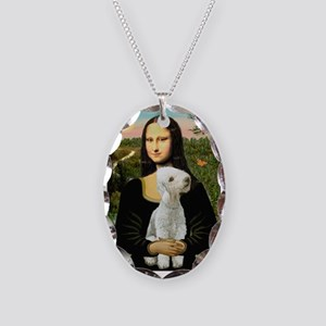 Mona / Bedlington(T) Necklace Oval Charm
