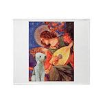 Angel / Bedlington T Throw Blanket