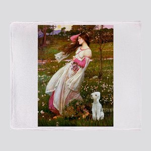 Windflowers/Bedlington T Throw Blanket