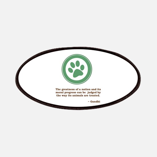 Gandhi Green Paw Patches