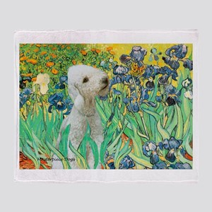 Irises /Bedlington T Throw Blanket