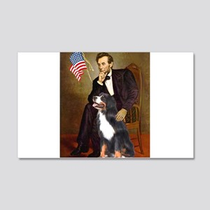 Lincoln & His Bernese 22x14 Wall Peel