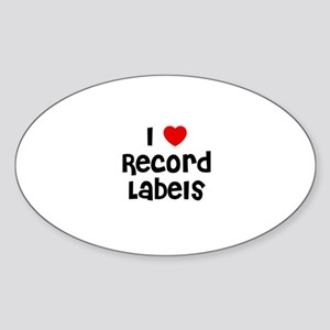 I * Record Labels Oval Sticker