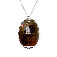 Lincoln & his Bichon Necklace
