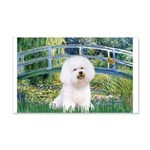 Bridge & Bichon 20x12 Wall Decal