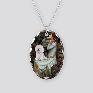 Ophelia & Bichon Necklace Oval Charm