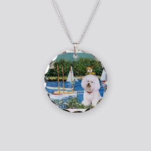 Sailboats (1) Necklace Circle Charm