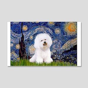 Starry Night Bichon 20x12 Wall Decal