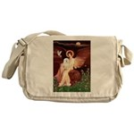 Seated Angel & Bolognese Messenger Bag