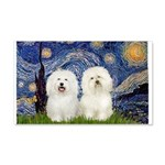 Starry Night / 2 Bolognese 20x12 Wall Decal