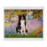 Garden & Border Collie Throw Blanket