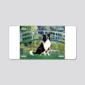 Bridge & Border Collie Aluminum License Plate