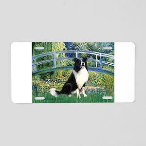 Bridge & Border Collie Aluminum License Plate
