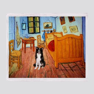 Room with Border Collie Throw Blanket