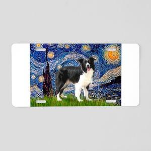 Starry / Border Collie (Z) Aluminum License Plate