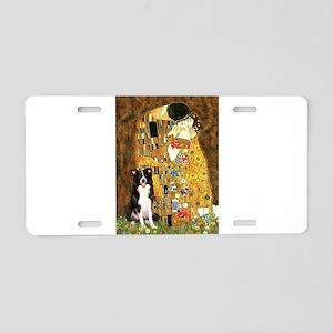 The Kiss & Border Collie Aluminum License Plate