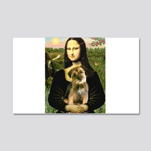 Mona & Border Terri 20x12 Wall Decal