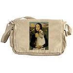 Mona & her Borzoi Messenger Bag