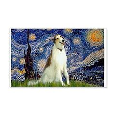 Starry Night & Borzoi 22x14 Wall Peel