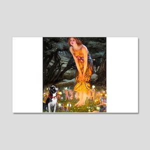Fairies & Boston Terrier 20x12 Wall Decal