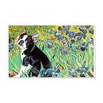 Irises & Boston Ter 20x12 Wall Decal