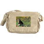 Irises & Boston Ter Messenger Bag