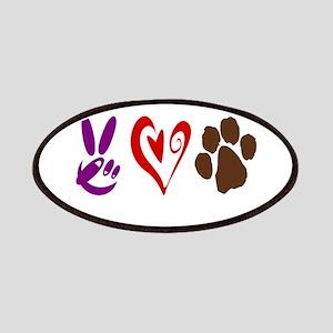 Peace, Love, Pets Symbols Patches