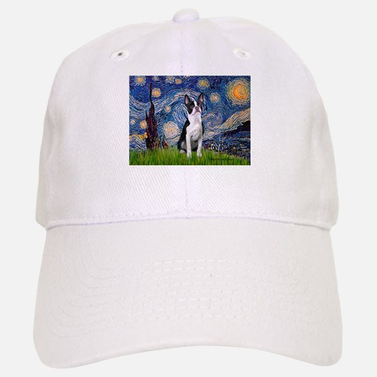 Starry Night Boston (#2) Baseball Baseball Cap