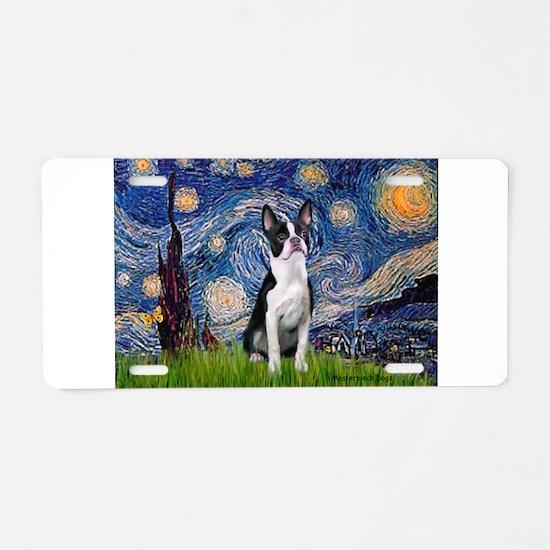 Starry Night Boston (#2) Aluminum License Plate