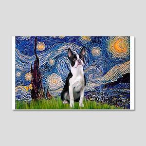 Starry Night Boston (#2) 20x12 Wall Decal