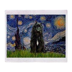 Starry Night Bouvier Throw Blanket